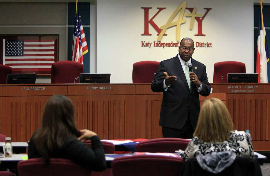 Katy ISDThe district will not present a bond to voters in May, but has formed a committee and hopes to sway voters in favor of reworked version of a $99 million bond that was rejected in November 2013. The vote was 9,013 against and 7,549 in favor.Pictured: Katy ISD Superintendent Alton Frailey Photo: Mayra Beltran, Staff / © 2014 Houston Chronicle