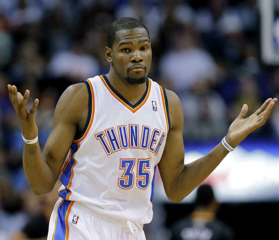 Kevin Durant and the Thunder lost three straight home games after the All-Star break, and the injury bug has started to claim two members of their frontline. Photo: Associated Press / AP