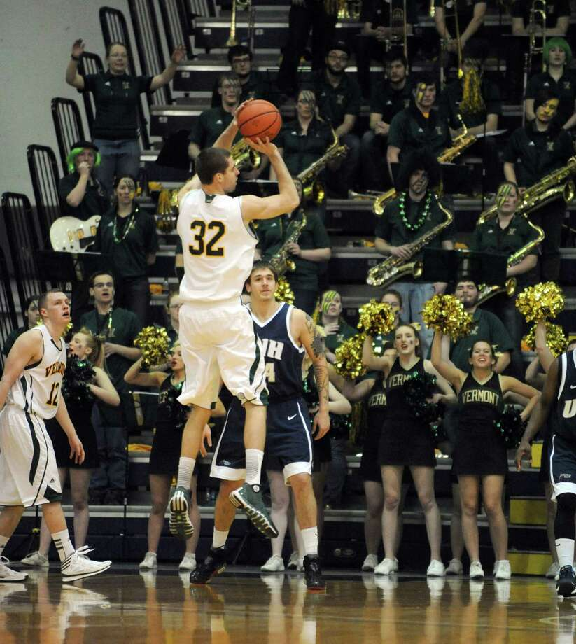 Vermont's Ethan O'Day puts up a shot during their America East Tournament game against UNH at the SEFCU Arena on Saturday March 8, 2014 in Albany, N.Y. (Michael P. Farrell/Times Union) Photo: Michael P. Farrell / 00025986A