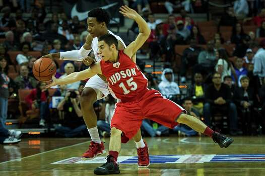 Galena Park North Shore's Jarrey Foster (25) is fouled by Converse Judson guard Julian Erickson Photo: Smiley N. Pool, Houston Chronicle / © 2014  Houston Chronicle