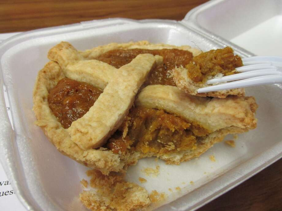 Marie s to-die-for sweet potato pie at Gerard's Barbeque Diner in Beaumont. Photo: Cat5