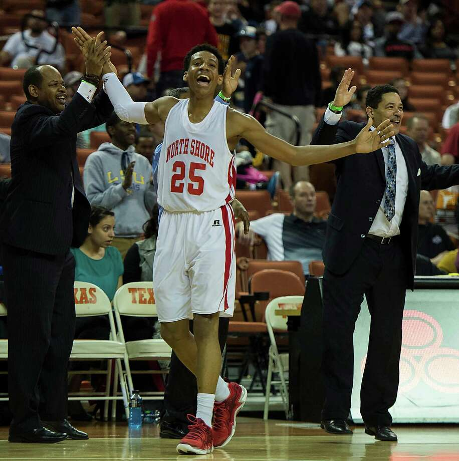 North Shore's Jarrey Foster (25) celebrates in the final minute of a victory over Converse Judson. Photo: Smiley N. Pool, Houston Chronicle / © 2014  Houston Chronicle