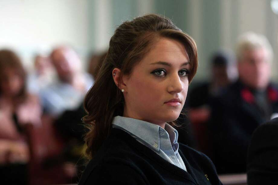 High school senior Rachel Canning, 18, appears in Morris County Superior Court in Morristown, N.J., Tuesday, March 4, 2014. Canning is suing her parents for financial support and college tuition after she claims they threw her out of the home. Photo: Bob Karp, AP / AP2014