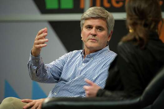Steve Case, chief executive officer of Revolution LLC and co-founder of America Online Inc., left, speaks as Emily Chang, anchor of Bloomberg West Television, listens at the South By Southwest (SXSW) Interactive Festival in Austin, Texas, U.S., on Saturday, March 8, 2014. The SXSW conferences and festivals converge original music, independent films, and emerging technologies while fostering creative and professional growth. Photographer: David Paul Morris/Bloomberg *** Local Caption *** Steve Case; Emily Chang Photo: David Paul Morris, Getty Images / © 2014 Bloomberg Finance LP