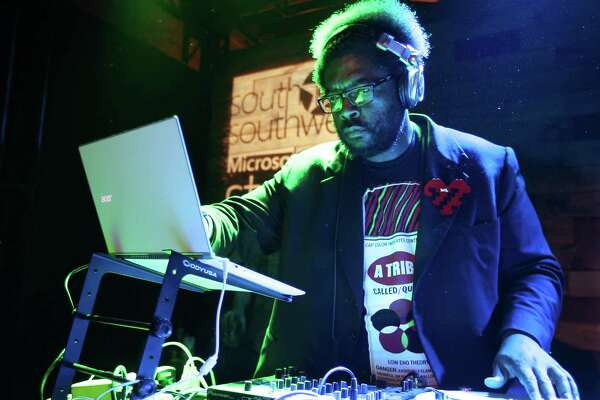 IMAGE DISTRIBUTED FOR MICROSOFT - Questlove DJs the #ReadyWhenYouAre party at the Microsoft Studio at SXSW in Austin, TX on Saturday, March 8, 2014. (Erich Schlegel/AP Images for Microsoft)