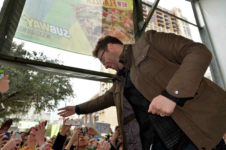 "IMAGE DISTRIBUTED FOR SUBWAY RESTAURANTS - Seth Rogen from ""Neighbors"" interacts with fans during a Tumblr Q&A event sponsored by SUBWAY Restaurants at SXSUBWAY square in Austin, Texas on Sunday, March 9, 2014.  (Photo by Jack Dempsey/Invision for SUBWAY Restaurants/AP Images) Photo: Jack Dempsey, Getty Images / Invision"