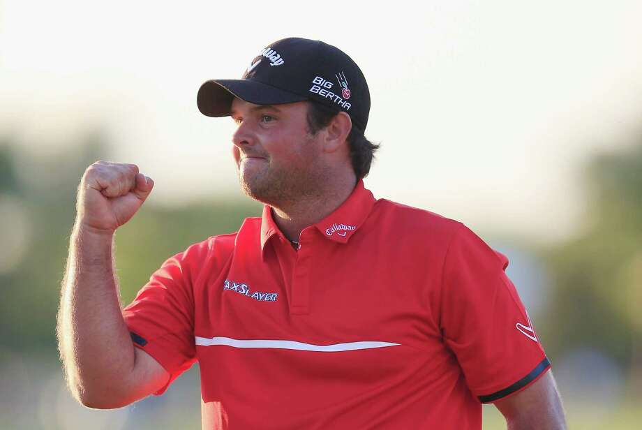 DORAL, FL - MARCH 09:  Patrick Reed celebrates his one-stroke victory on the 18th green during the final round of the World Golf Championships-Cadillac Championship at Trump National Doral on March 9, 2014 in Doral, Florida. Photo: Jamie Squire, Getty Images / 2014 Getty Images