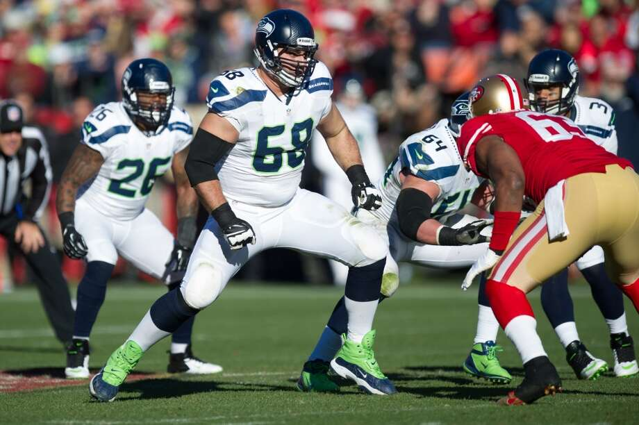 7. OT Breno GiacominiNFL experience: Six years/p>2013 salary: $3,500,000Analysis: At this point in his career, it's pretty evident that the big Brazilian is a serviceable right tackle, but that's about it. The problem is there's very little behind him in the current crop of Seahawks reserves. Could second-year players Michael Bowie or Alvin Bailey step in if Giacomini goes elsewhere? Perhaps, as both showed some promise in 2013. But re-signing Breno would  allow the Hawks to concentrate on other areas of need this offseason. The Hawks would then hope the best man wins the job protecting Russell Wilson's right side in 2014. Photo: Rob Tringali, Getty Images