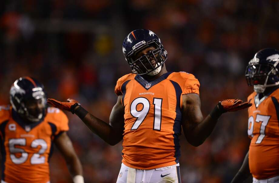 4. DE Robert Ayers NFL experience: Five years 2013 salary: $1,060,000 Analysis: A first-round pick out of Tennessee in 2009, Ayers disappointed in Denver, totaling just 12 sacks in 72 appearances with the Broncos. He showed some promise with 5.5 sacks last season, but is really more suited to play a 4-3 defensive end than an outside linebacker in Denver's 3-4 scheme. Ayers could benefit from highly motivated veteran teammates along the line pushing him to reach his full potential, which may make him a low-risk, high-reward addition for the Seahawks. Photo: AAron Ontiveroz, Denver Post Via Getty Images