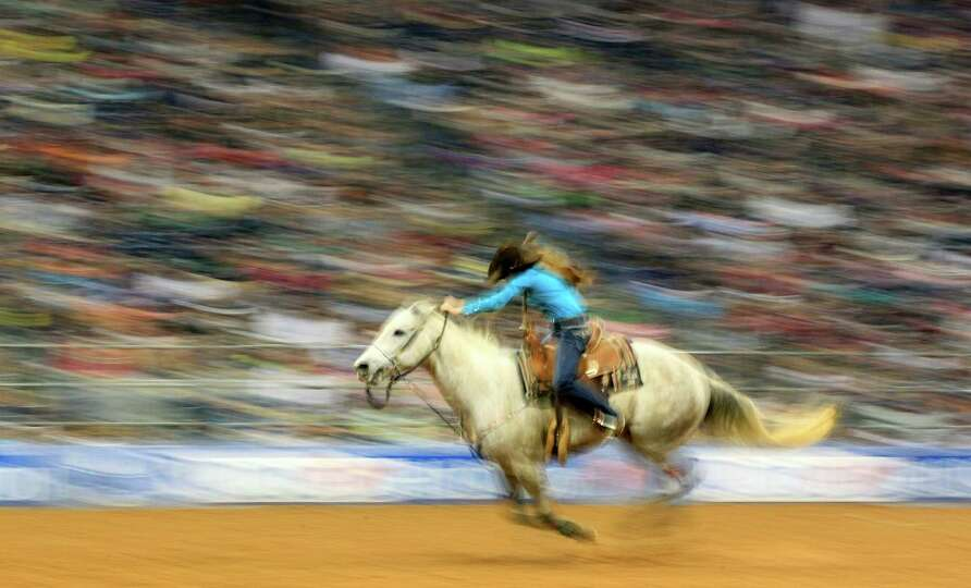 Tori Williams took seventh in the Barrel Racing event with an aggregate time of 45.36 at the Rodeo H