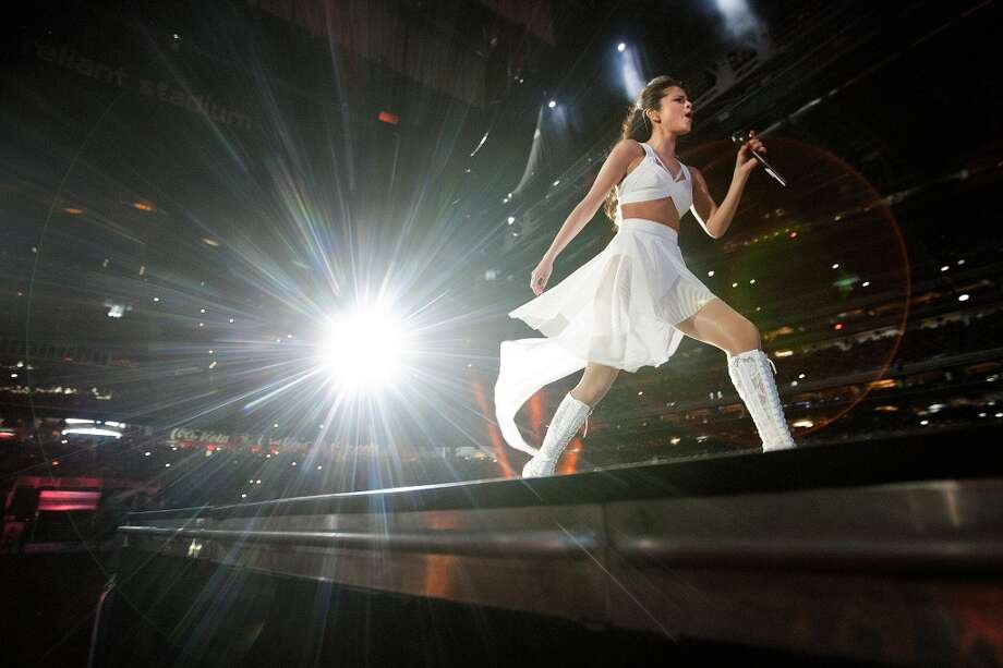Selena Gomez performs during RodeoHouston at the Houston Livestock Show and Rodeo at Reliant Stadium Sunday, March 9, 2014, in Houston. Photo: Johnny Hanson, Houston Chronicle