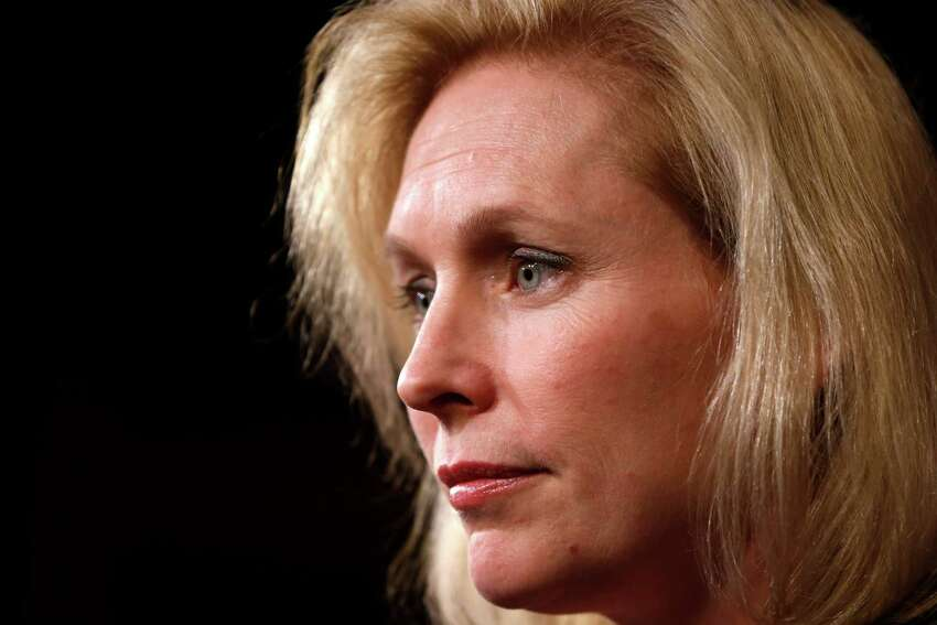 Sen. Kirsten Gillibrand, D-N.Y. speaks at a news conference on Capitol Hill in Washington, Thursday, March 6, 2014, following a Senate vote on military sexual assaults. The Senate blocked a bill that would have stripped senior military commanders of their authority to prosecute rapes and other serious offenses, capping an emotional, nearly yearlong fight over how best to curb sexual assault in the ranks. (AP Photo/Charles Dharapak) ORG XMIT: DCCD303