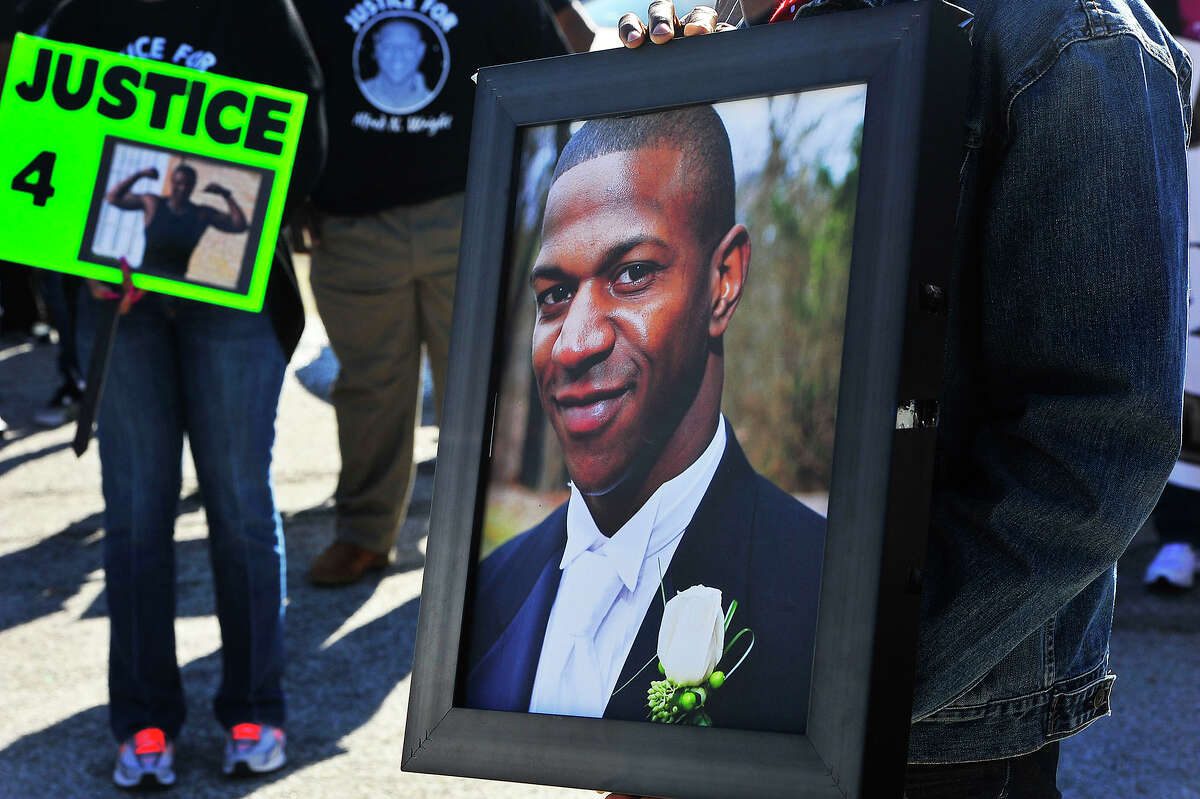 Dozens marched during the Justice for Alfred Wright rally earlier this year in Beaumont.