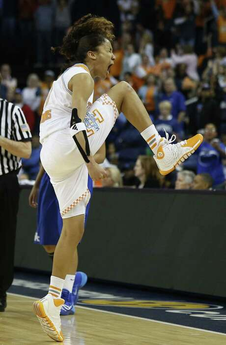Tennessee and senior guard Meighan Simmons, a Steele High product, were a leg up against Kentucky in the SEC title game. Simmons overcame shooting struggles to finish with 17 points. Photo: John Bazemore / Associated Press / AP