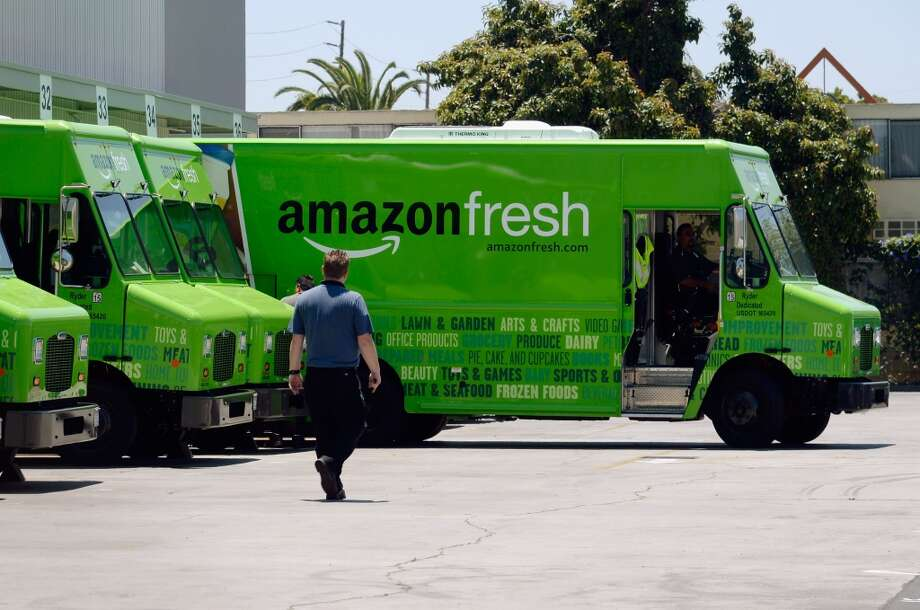 Amazon Fresh trucks are circling the neighborhood. Photo: Kevork Djansezian, Getty Images
