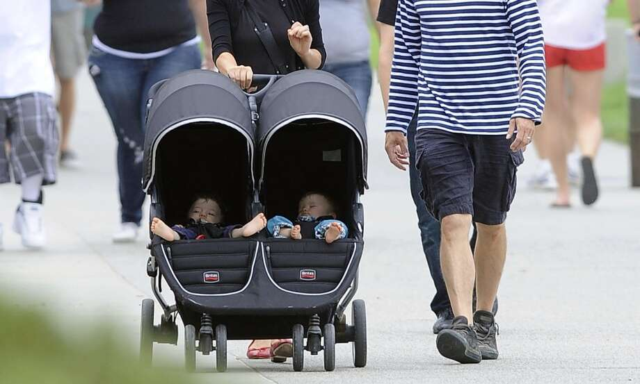 There are a lot of stay-at-home parents with beefy double strollers. Photo: GONZALO/Bauer-Griffin, GC Images