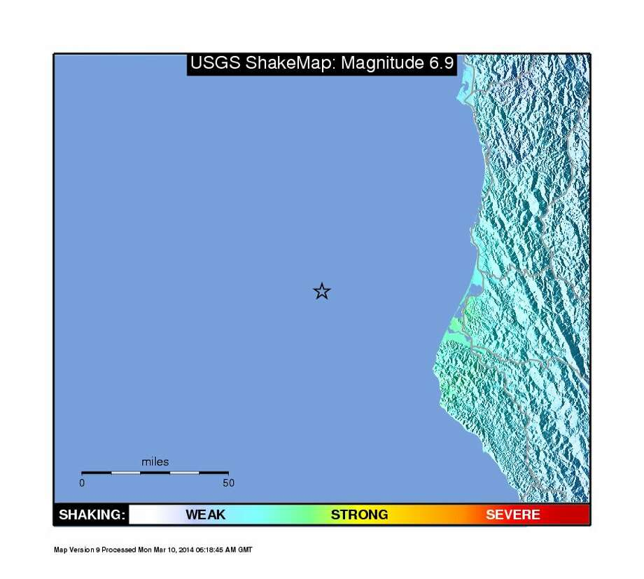 Approximate epicenter of the 6.9 earthquake. Photo: USGS
