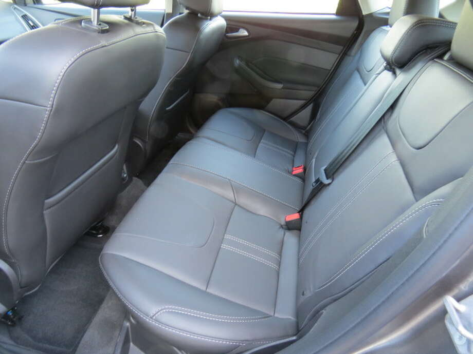 Rear seats have little legroom, but, then again, it's a small car.