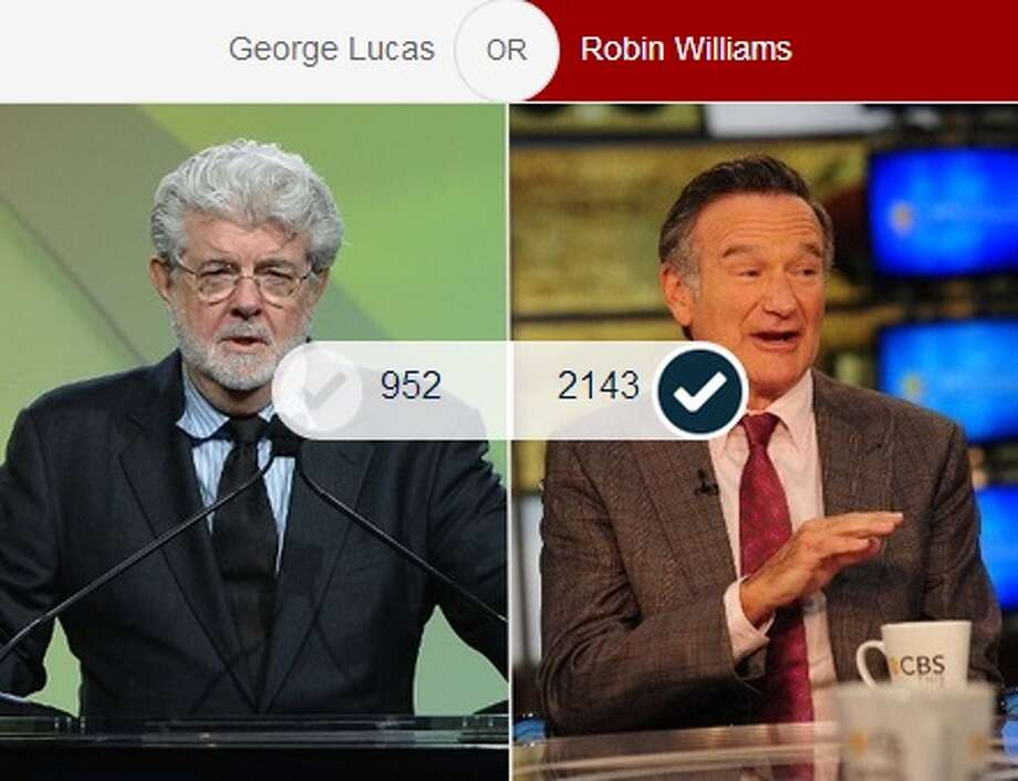 The force wasn't with Star Wars creator and San Anselmo resident George Lucas when he faced fellow Marin resident Robin Williams. Of the 3,134 votes cast for this match, 70 percent of the voters opted in favor of Williams in the semifinals.