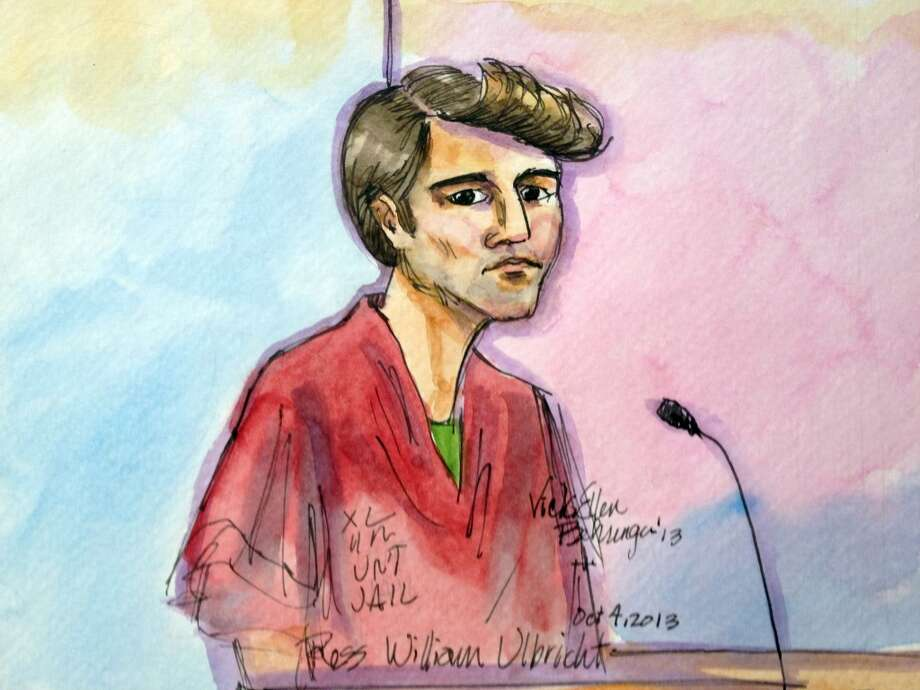 The original Silk Road bust: Ross William Ulbricht, the alleged head of underground marketplace Silk Road, was taken down by the FBI in October 2013 at a den of illegal activity ... the Glen Park library. Witnesses say undercover agents surprised Ulbricht in the science fiction section. The alleged 'Dread Pirate Roberts' may have also  worked out of a Hayes Valley cafe. Photo: Vicki Behringer, Associated Press