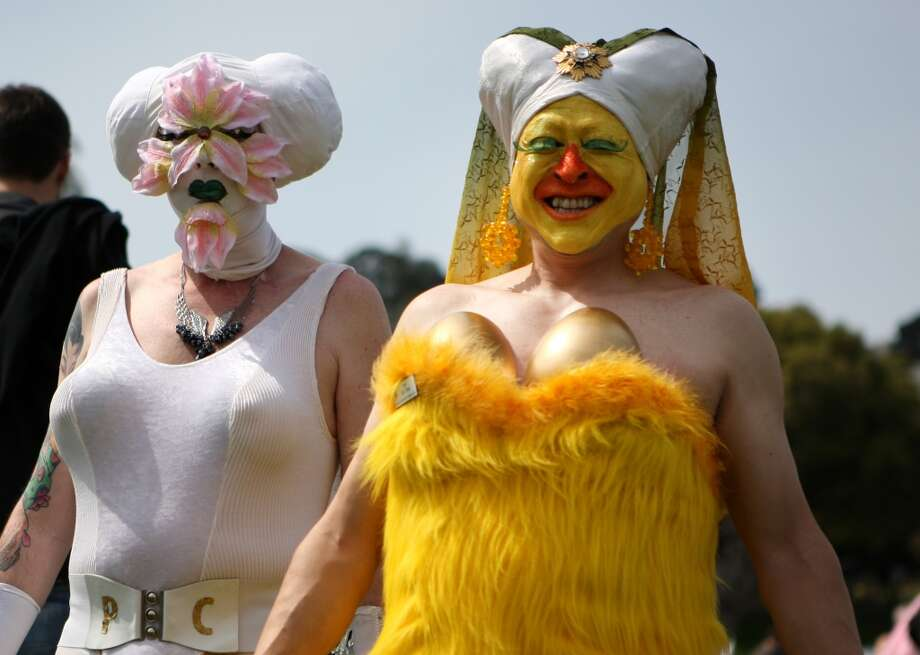 The Hunky Jesus contestS.F.'s Sisters of Perpetual Indulgence go all-out for Easter with a Dolores Park egg hunt, bonnet contest, and Hunky Jesus competition. Photo: Kevin Johnson, The Chronicle