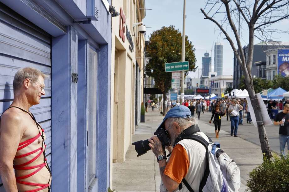 The Folsom Street FairThe abundance of S&M gear and leather - or lack of it - make for some great photo opportunities at this annual fair held in September. Photo: Raphael Kluzniok, The Chronicle
