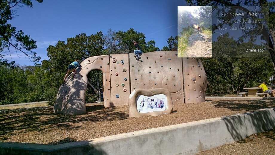 Climbing wall at Eisenhower Park