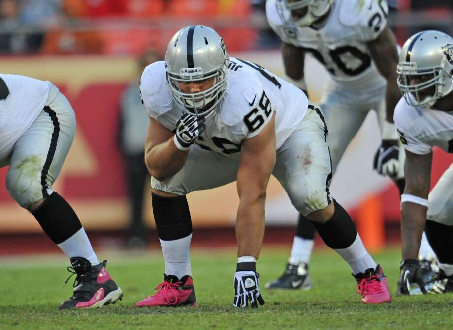 Jared Veldheer  Position: OT  Status: Signed with Arizona Cardinals Photo: Peter G. Aiken, Getty Images