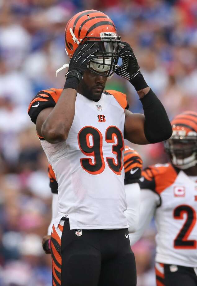 Michael Johnson  Position: DE  Status: Signed with Tampa Bay Buccaneers Photo: Tom Szczerbowski, Getty Images