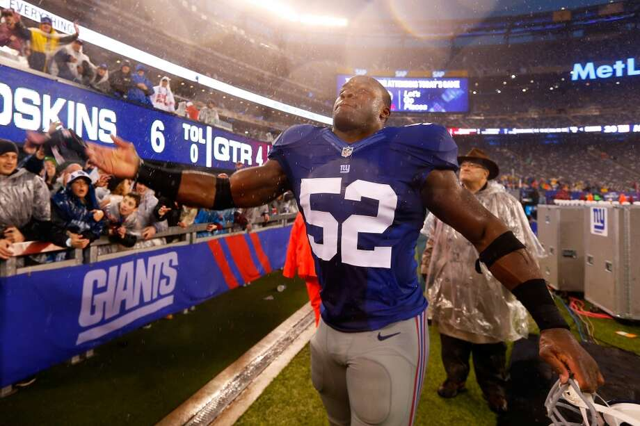 Jon Beason  Position: LB  Status: Re-signed with New York Giants Photo: Mike Stobe, Getty Images