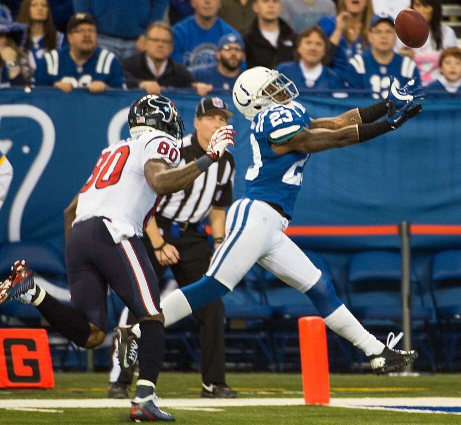Vontae Davis  Position: CB  Status: Re-signed with Indianapolis Colts Photo: Smiley N. Pool, Houston Chronicle