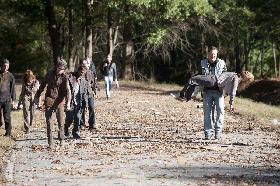 Walkers - The Walking Dead _ Season 4, Episode 13 _ BTS - Photo Credit: Gene Page/AMC Photo: Gene Page/AMC