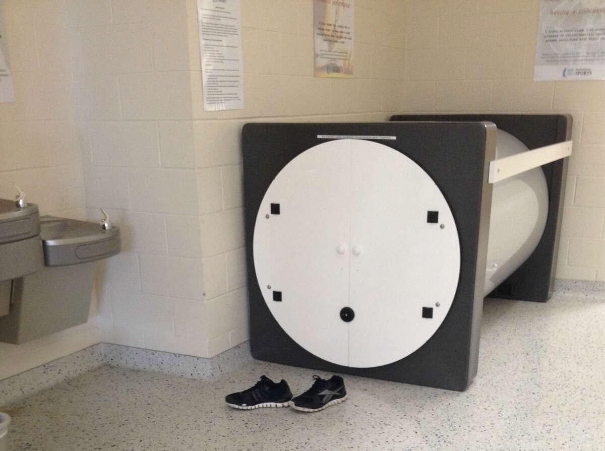 An occupied sleep pod. (Texas A&M University-Corpus Christi)