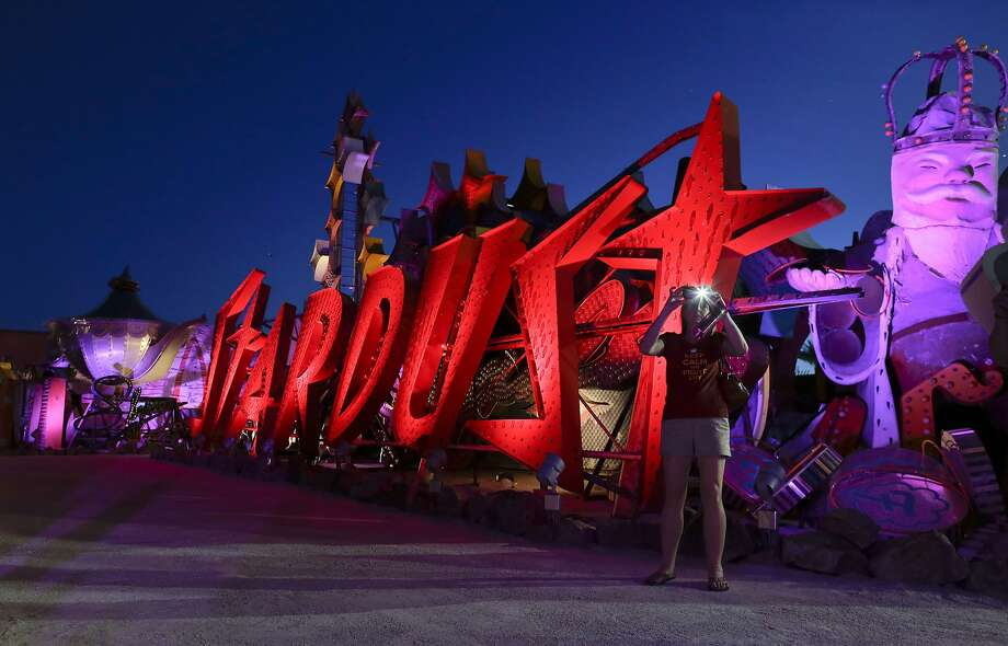 And since you are, after all, in Las Vegas, you might as well visit 'The Boneyard' at the Neon Museum. It's home to retired casino signs, some dating back to the 1930s, that are excellent photography subjects for a Bay Area techie to share on their countless number of social networks. Photo: Julie Jacobson, Associated Press