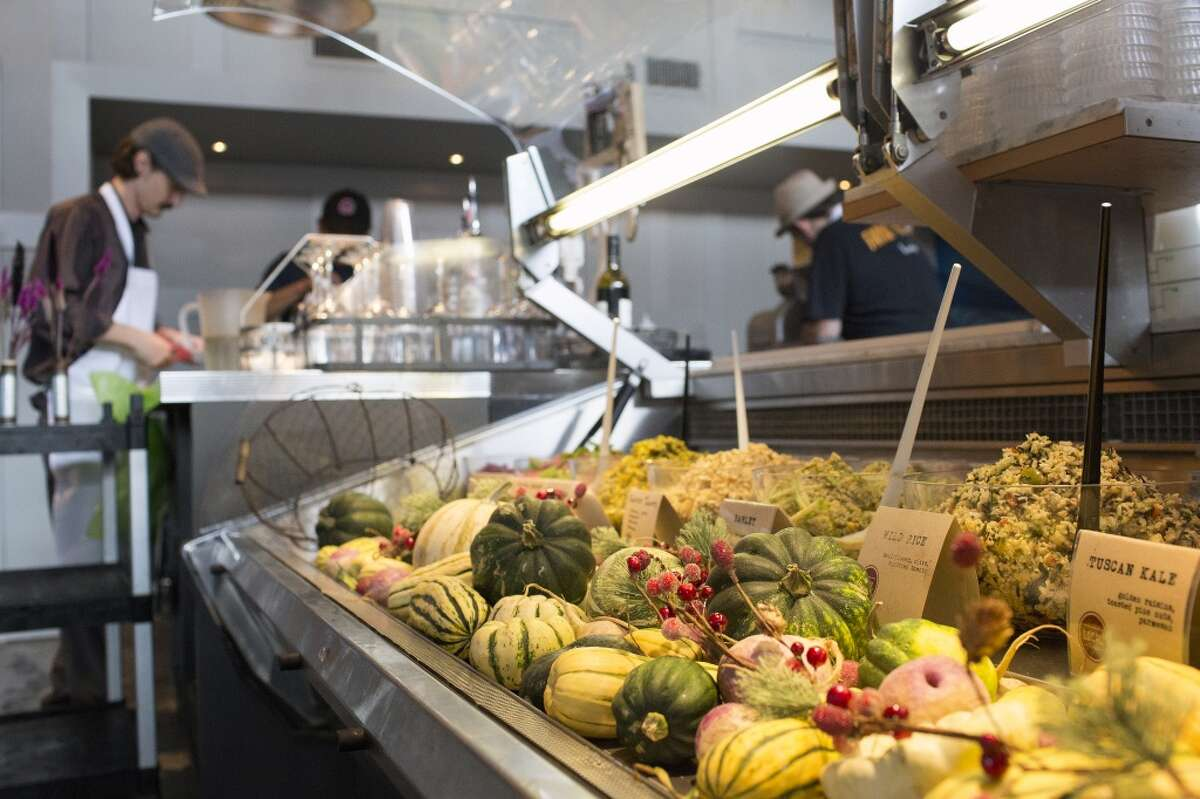 A view of the main salad case at Local Foods in Rice Village.