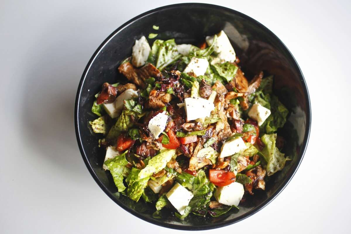 Balsamic Grilled Chicken Salad with tomato, basil and house mozzarella at Local Foods