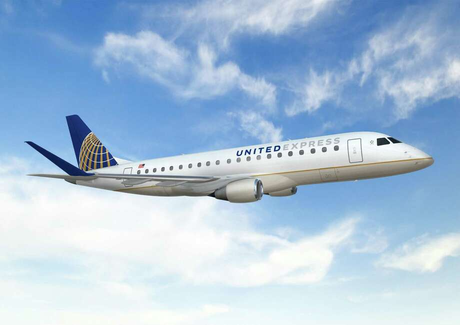 The 76-seat Embraer 175 has 12 seats in United First, 16 seats in Economy Plus and 48 seats in economy. The jet is replacing less fuel-efficient aircraft. Photo: United Airlines / ONLINE_YES