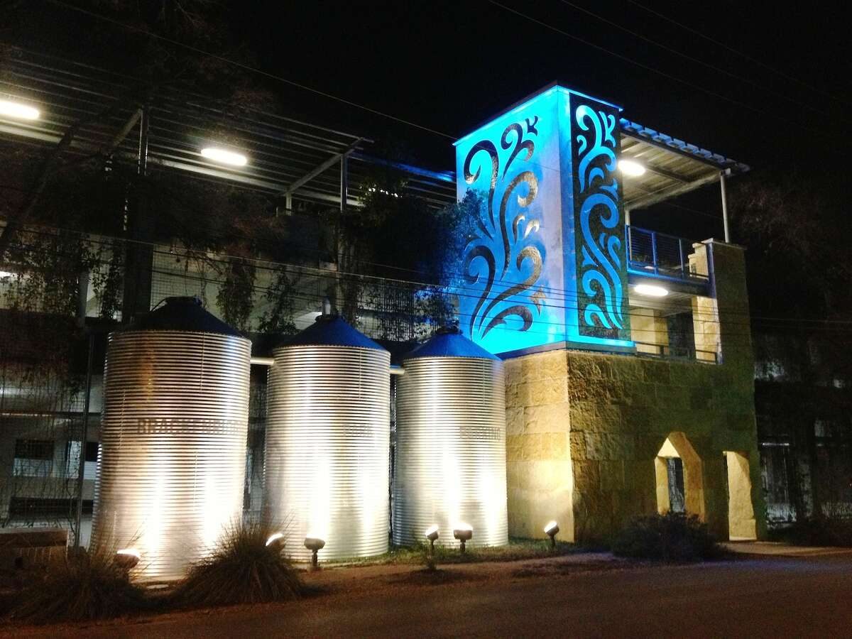 Water was the inspiration for Cakky Brawley's lighted metal sculpture at the Brackenridge Park parking facility.