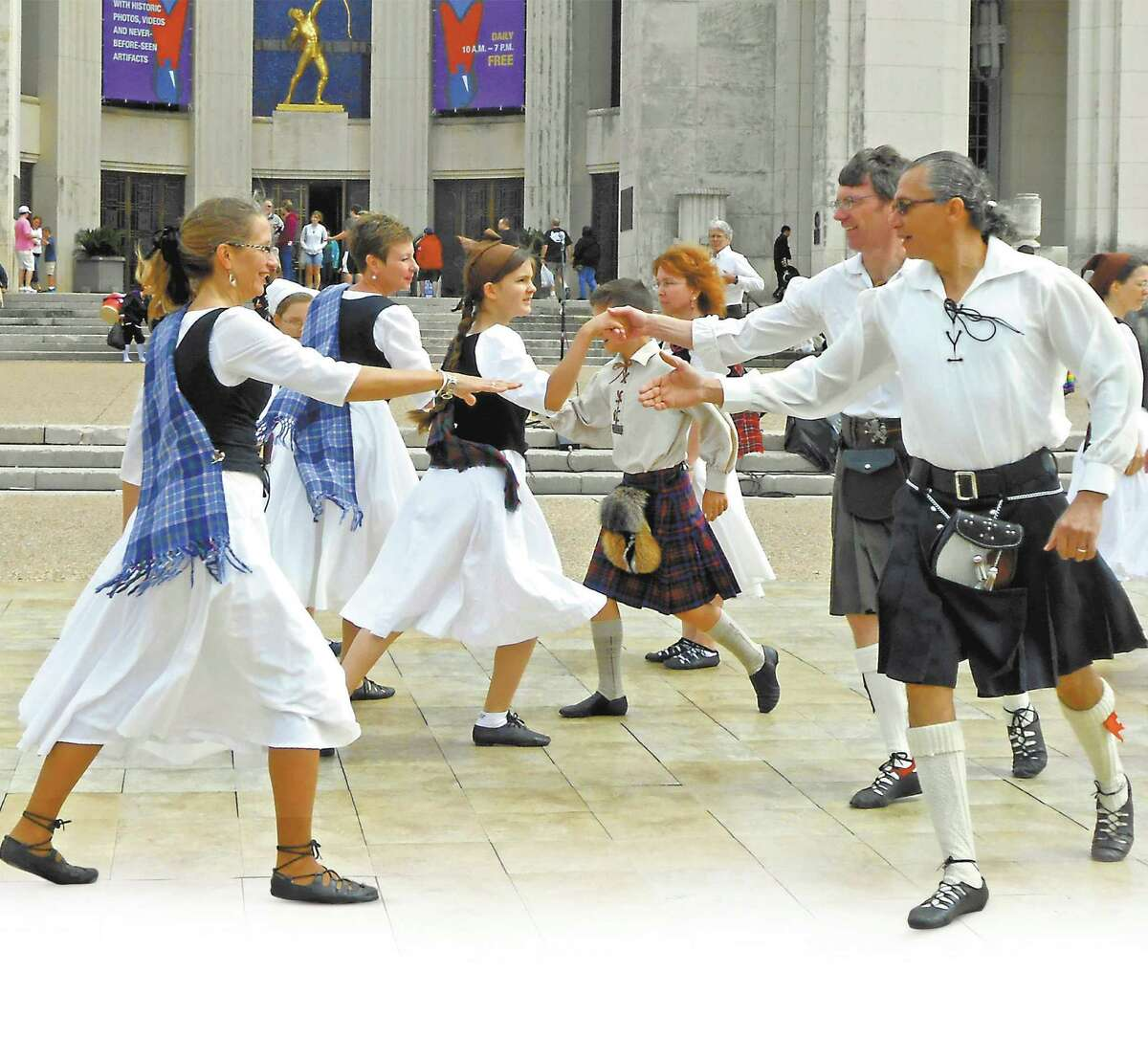 The Bluebonnet Scottish Country Dancers will perform at this weekend's 56th annual San Antonio Folk Dance Festival.