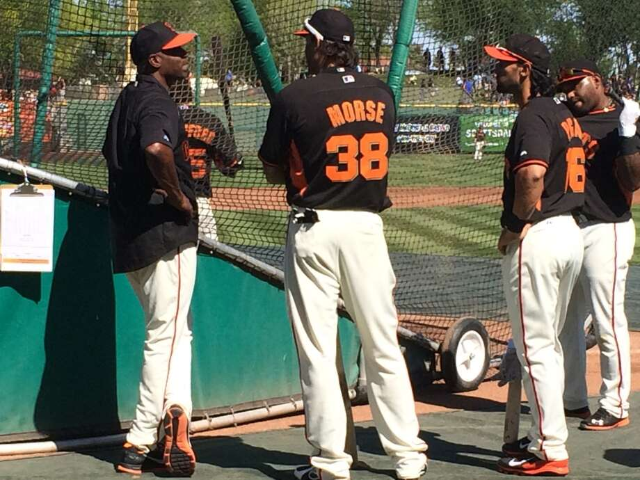 Barry Bonds meets with the San Francisco Giants on March 10. Photo: John Shea, The Chronicle