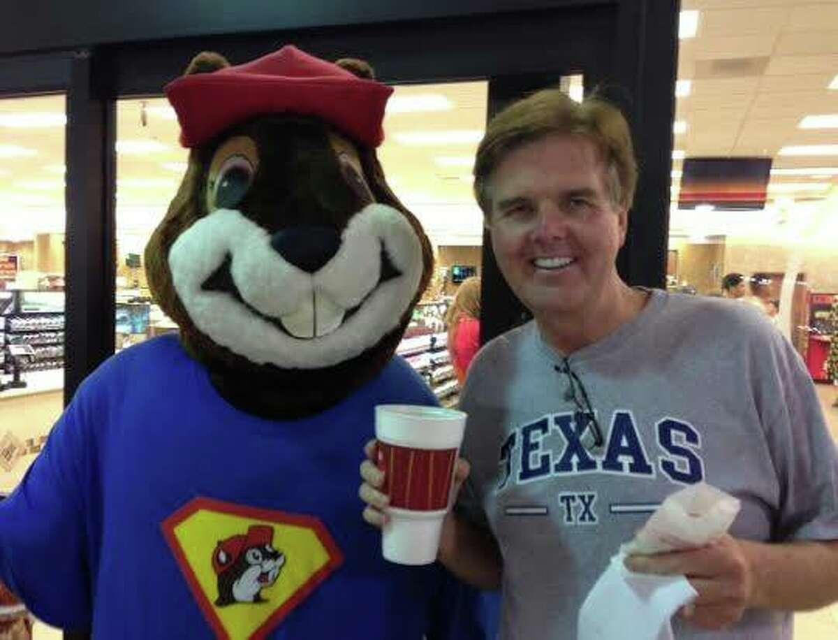 Dan Patrick and Buc-ee's beaver mascot