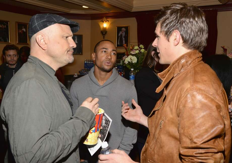 "Actor Enrico Colantoni, actor Percy Daggs and actor Chris Lowell arrives at the premiere of ""Veronica Mars"" during the 2014 SXSW Music, Film + Interactive Festival at the Paramount Theatre on March 8, 2014 in Austin, Texas. Photo: Michael Buckner, Getty Images For SXSW"