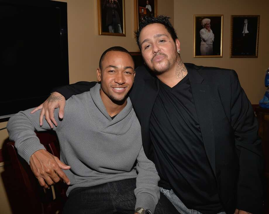 """(L-R) Actor Percy Daggs III and actor Francis Capra arrives at the premiere of """"Veronica Mars"""" during the 2014 SXSW Music, Film + Interactive Festival at the Paramount Theatre on March 8, 2014 in Austin, Texas. Photo: Michael Buckner, Getty Images For SXSW"""