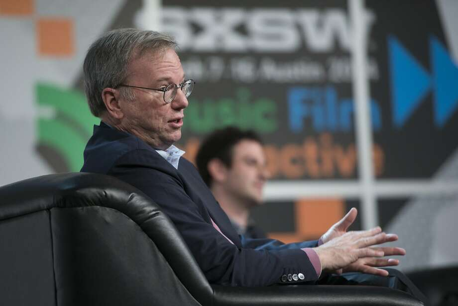 Google's Eric Schmidt attends South by Southwest, where news of the developer tools was announced. Photo: David Paul Morris, Bloomberg