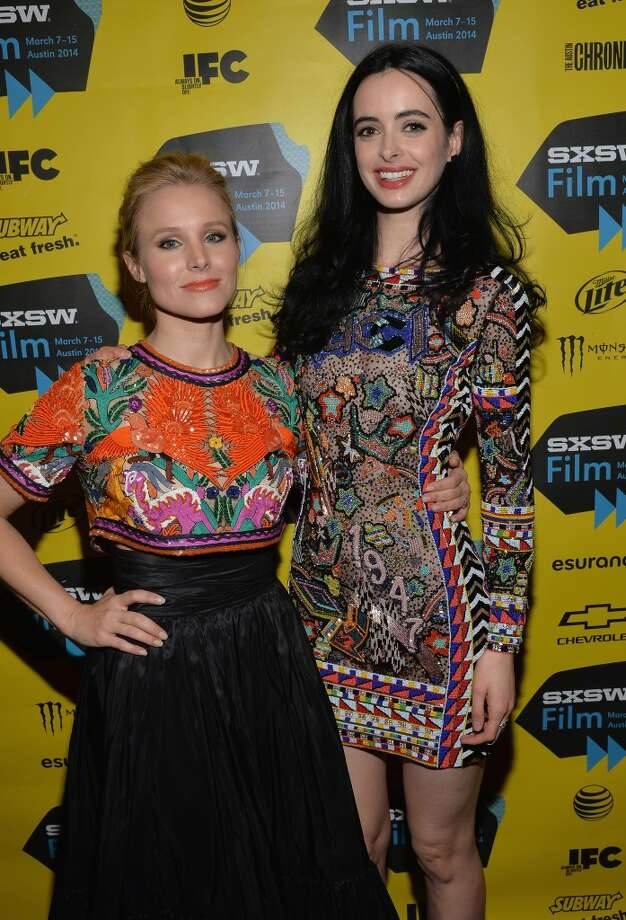 "Actress Kristen Bell (L) and actress Krysten Ritter pose in the green room for the premiere of ""Veronica Mars"" during the 2014 SXSW Music, Film + Interactive Festival at the Paramount Theatre on March 8, 2014 in Austin, Texas. Photo: Michael Buckner, Getty Images For SXSW"
