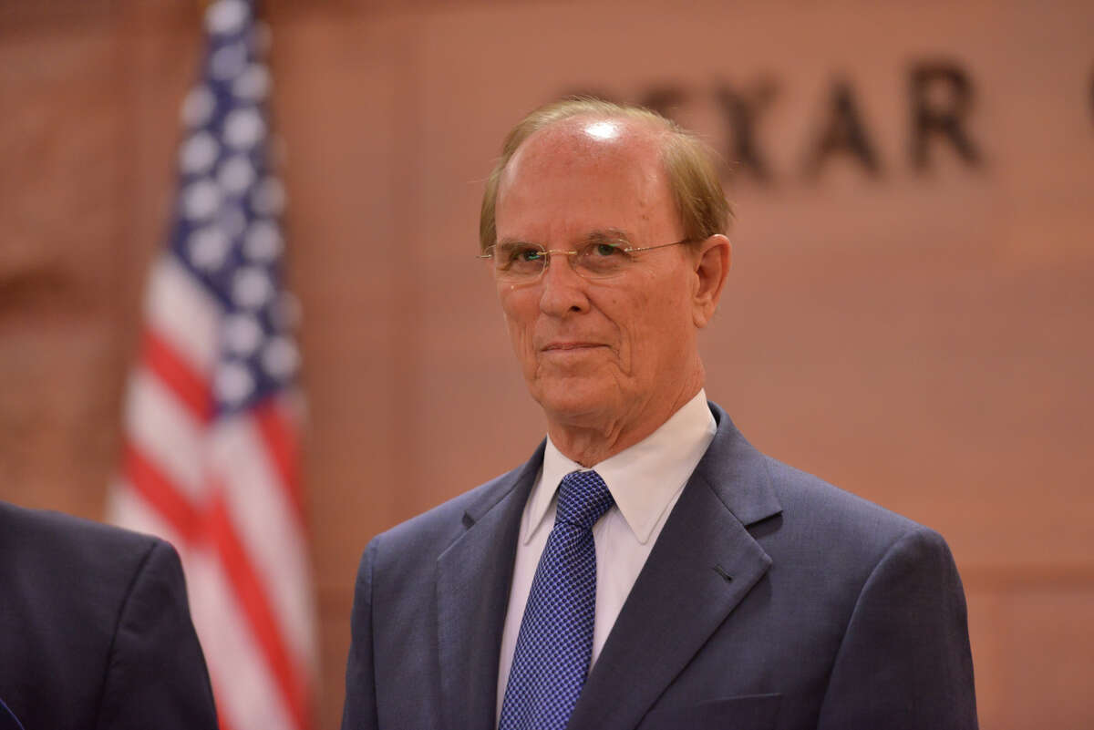 Bexar Country Commissioner Nelson Wolff prior to the Commissioners meeting on Tuesday at the Bexar County Courthouse.