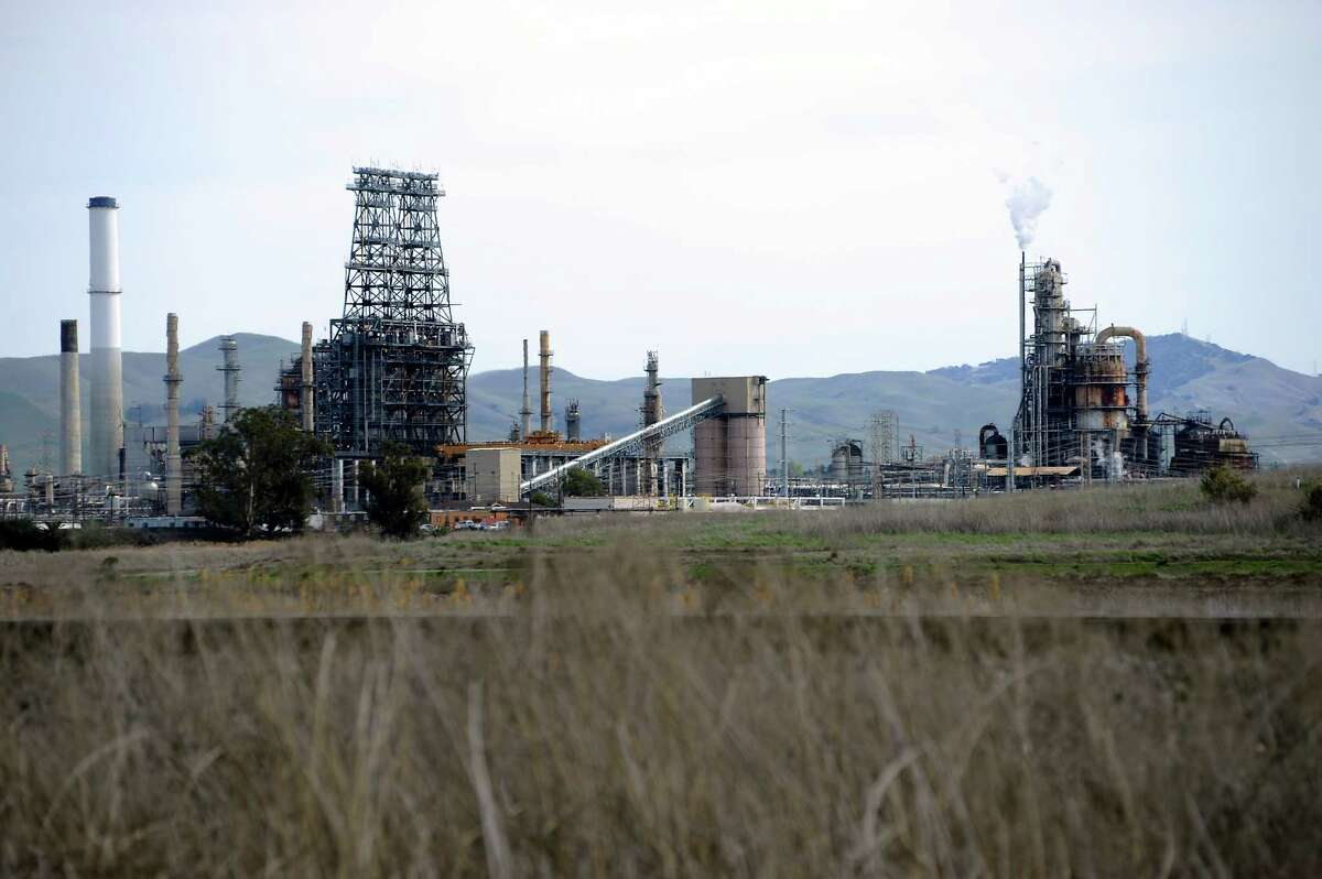 The Tesoro refinery near Martinez.