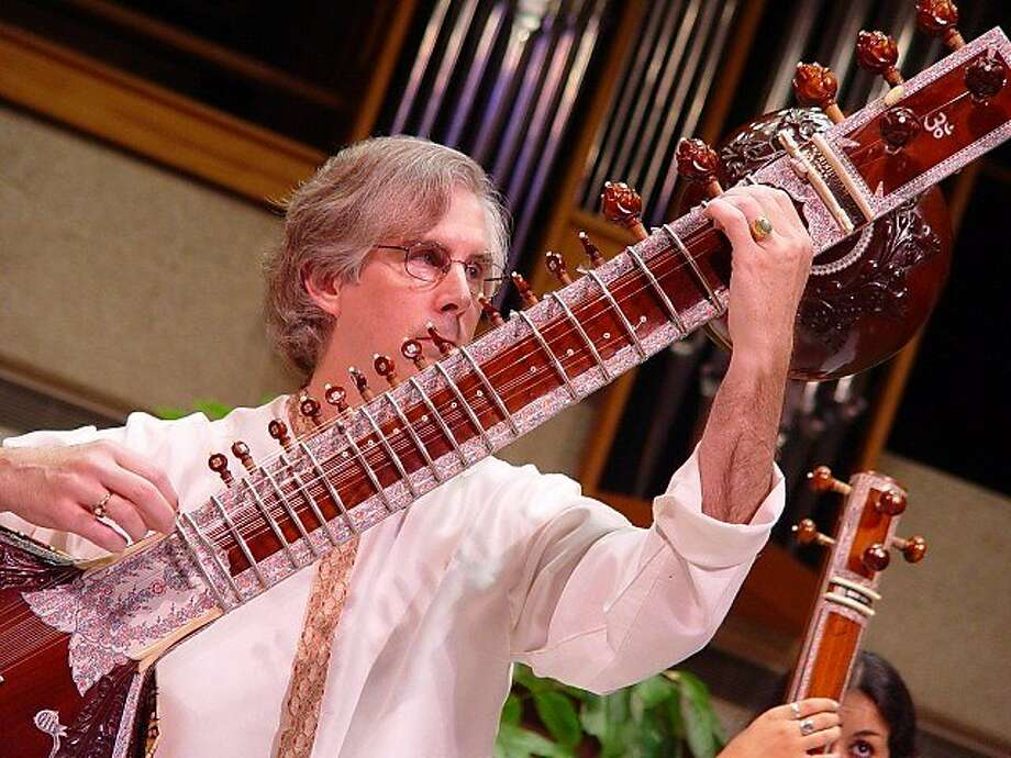 Stephen Slawek, a University of Texas at Austin professor, will play the sitar part in Concerto for Sitar and Orchestra with the Oakland East Bay Symphony on March 28. Photo: Amitava Sarkar
