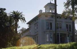 John Muir's mansion sits atop a hill overlooking the remains of fruit orchards at the John Muir National Historic Site on March 7, 2014 in Martinez, Calif.  The house and surrounding area became a national historical site in the 1960s.