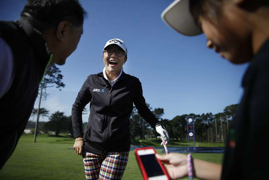 New Zealand's 16-year-old Lydia Ko, the fourth-ranked player in the world, enjoys a hearty laugh during a skills competition at Monday's meeting with the media ahead of next month's $1.8 million Swinging Skirts LPGA Classic at Lake Merced Golf Club in Daly City. Photo: Lea Suzuki, The Chronicle